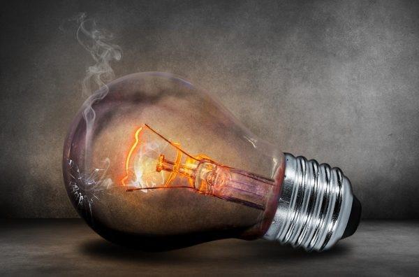 Lamp with dark background